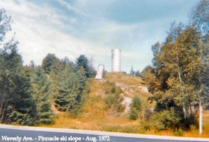The Pinnacle as seen from Waverley Ave. in 1972.