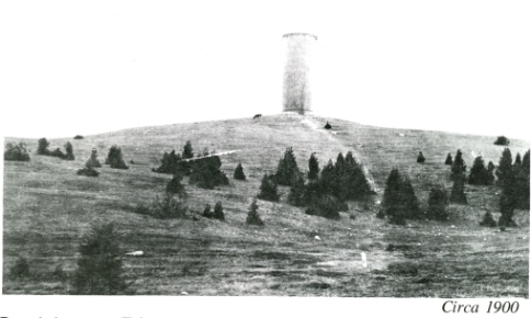 View of the hill that is now Pinnacle Park circa 1900.